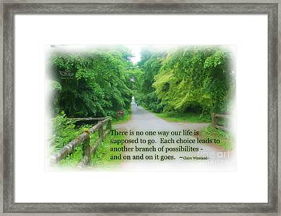 No One Way Framed Print