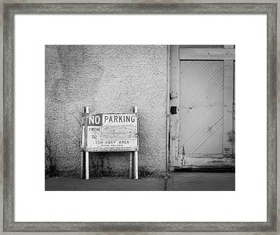 No Parking Framed Print by John Rossman