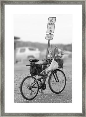 No Parking Framed Print by Mike McGlothlen