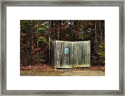 No Parking Framed Print by Paulette B Wright