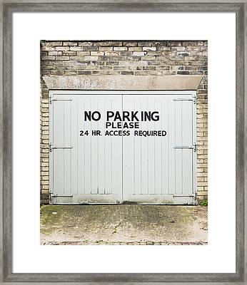No Parking Framed Print by Tom Gowanlock