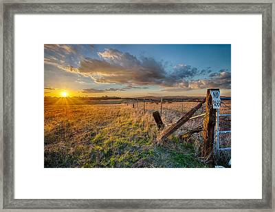 No Pass Framed Print by Peter Tellone