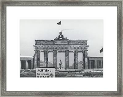 No Passing-papers For West-berlins Inhabitants Framed Print by Retro Images Archive