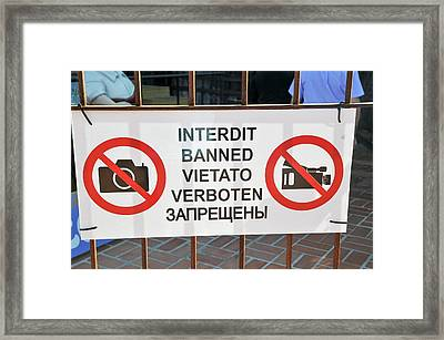 No Photography Sign Framed Print