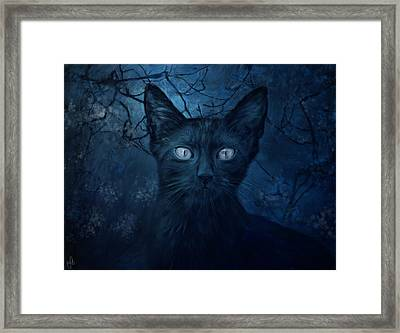 No Place For Scaredy Cats Framed Print by Hazel Billingsley