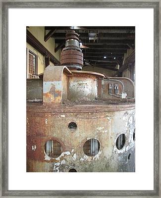 Framed Print featuring the photograph No Power Here Boss by Marie Neder
