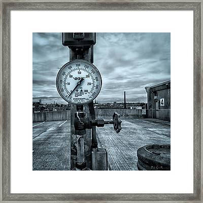 No Pressure Or The Valve At The Top Of The City  Framed Print by Bob Orsillo