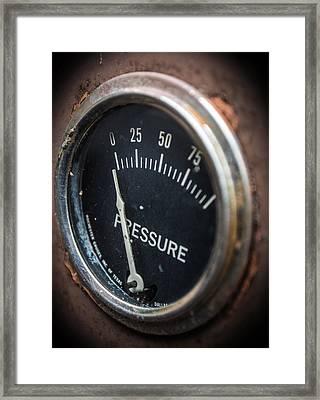 No Pressure Framed Print by Rhys Arithson
