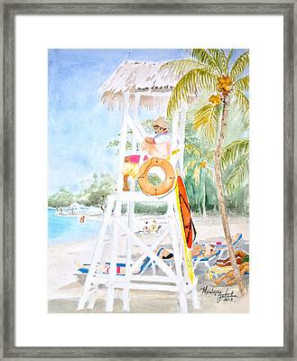 Framed Print featuring the painting No Problem In Jamaica Mon by Marilyn Zalatan