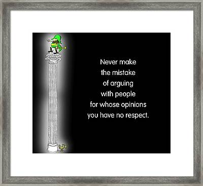 No Respect Framed Print