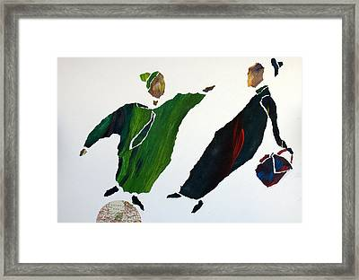 No Room For You In This World Framed Print by Jolly Van der Velden