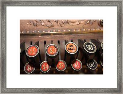 No Sale Framed Print by Lynn Sprowl