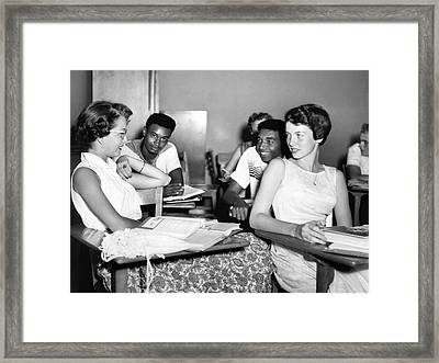 No Segregation Here Framed Print by Underwood Archives