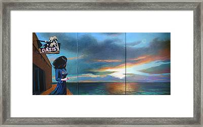 No Signal At The Oasis Framed Print by Geoff Greene