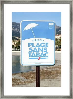 No-smoking Beach Framed Print by Chris Hellier