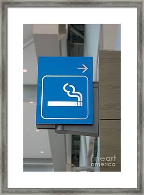 No Smoking Framed Print
