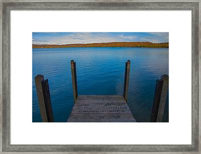 No Swimming Framed Print