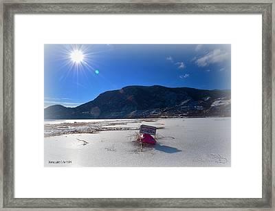 No Swimming - Skaha Lake 2-6-2014 Framed Print