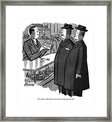 No, Thanks. The Black-and-white Framed Print by Peter Arno