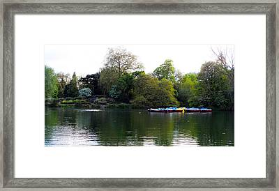 No Time For Boats Framed Print
