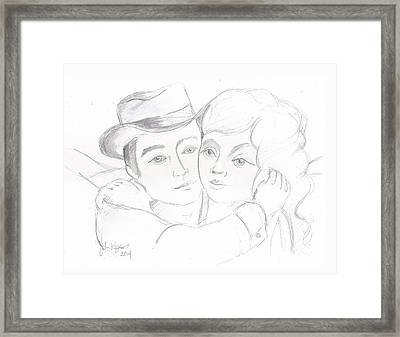 Framed Print featuring the drawing No Time For Goodbyes by John Keaton