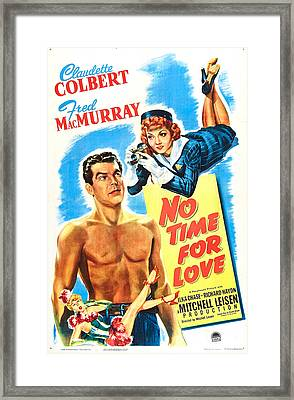 No Time For Love, Us Poster, From Left Framed Print by Everett