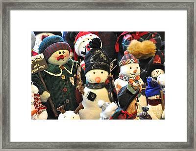 No Time Like Snow Time Framed Print by Vinnie Oakes