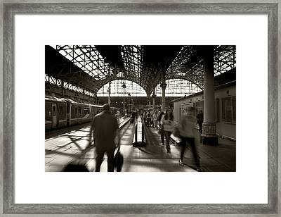 No Time To Chat Framed Print