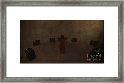 No Touch Torture Framed Print