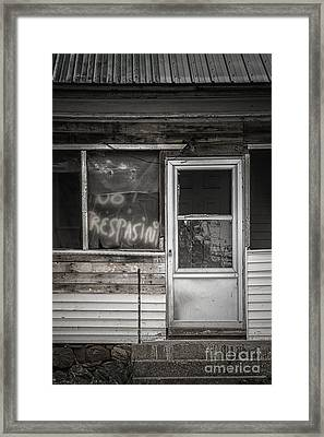 No Trespasing Framed Print by Margie Hurwich