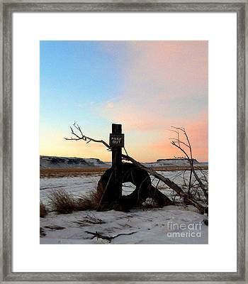 No Trespassing Framed Print by Desiree Paquette