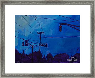 No Turn On Red Framed Print