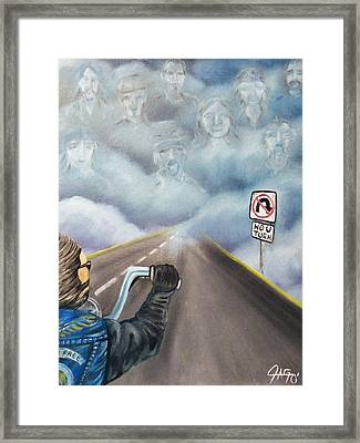 No U Turn Framed Print