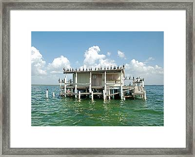 No Vacancy At The Stilt House Framed Print by Aimee L Maher Photography and Art Visit ALMGallerydotcom