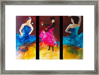 No Volre  Triptych Framed Print by Keith Thue