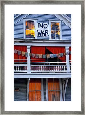 No War Framed Print