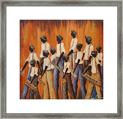 No Weapons Formed Against Me Framed Print by Sonja Griffin Evans