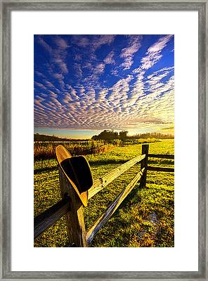 No Worries Framed Print by Phil Koch