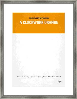 No002 My A Clockwork Orange Minimal Movie Poster Framed Print by Chungkong Art