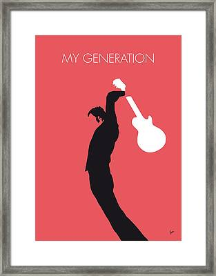 No002 My The Who Minimal Music Poster Framed Print by Chungkong Art