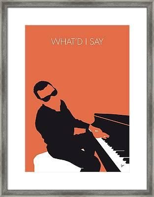 No003 My Ray Charles Minimal Music Poster Framed Print by Chungkong Art