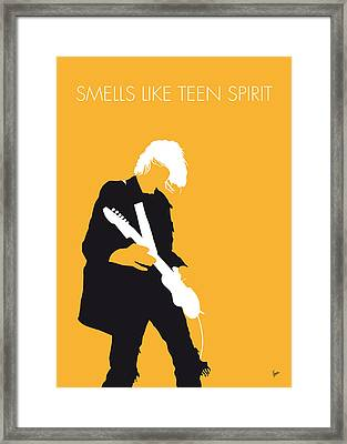 No004 My Nirvana Minimal Music Poster Framed Print