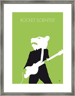No006 My Teddy Bears Minimal Music Poster Framed Print