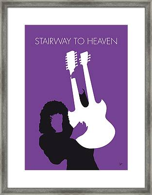 No011 My Led Zeppelin Minimal Music Poster Framed Print by Chungkong Art
