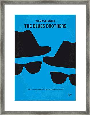No012 My Blues Brother Minimal Movie Poster Framed Print by Chungkong Art