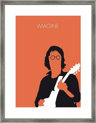 No013 My John Lennon Minimal Music Poster Framed Print by Chungkong Art