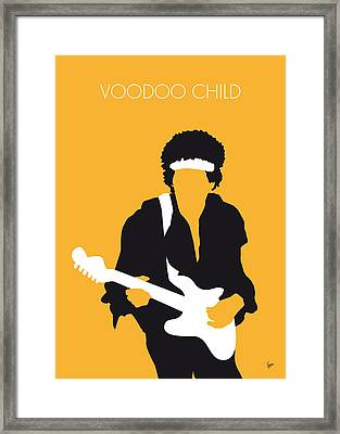 No014 My Jimi Hendrix Minimal Music Poster Framed Print by Chungkong Art