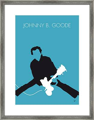 No015 My Chuck Berry Minimal Music Poster Framed Print