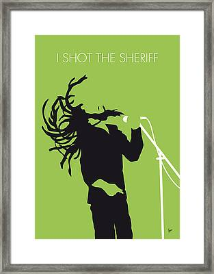 No016 My Bob Marley Minimal Music Poster Framed Print by Chungkong Art