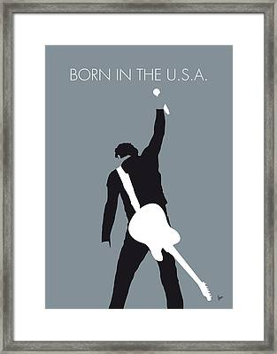 No017 My Bruce Springsteen Minimal Music Poster Framed Print by Chungkong Art